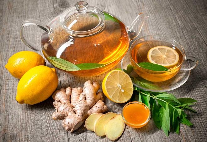 Имбирный чай - это один из наиболее эффективных дренажных напитков