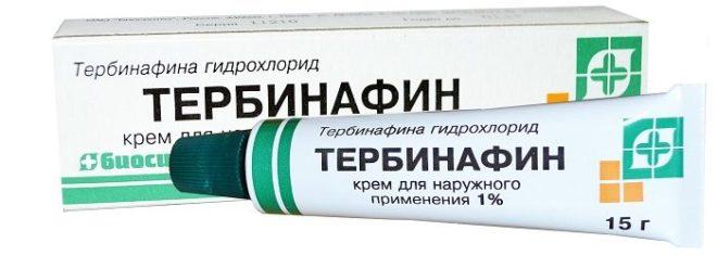 Тербинафин негативно действует на первопричину очага - то есть на споры возбудителя