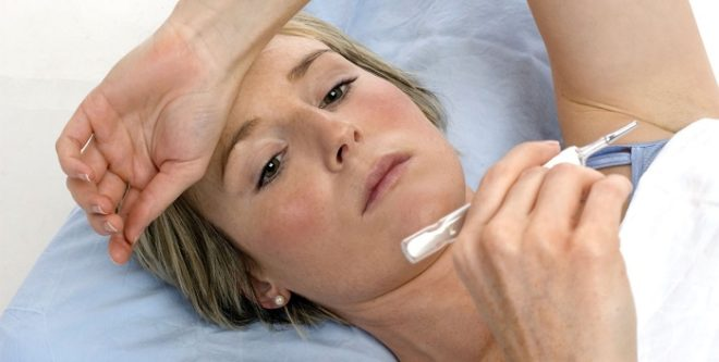 Высокая температура может говорить о серьезном воспалении