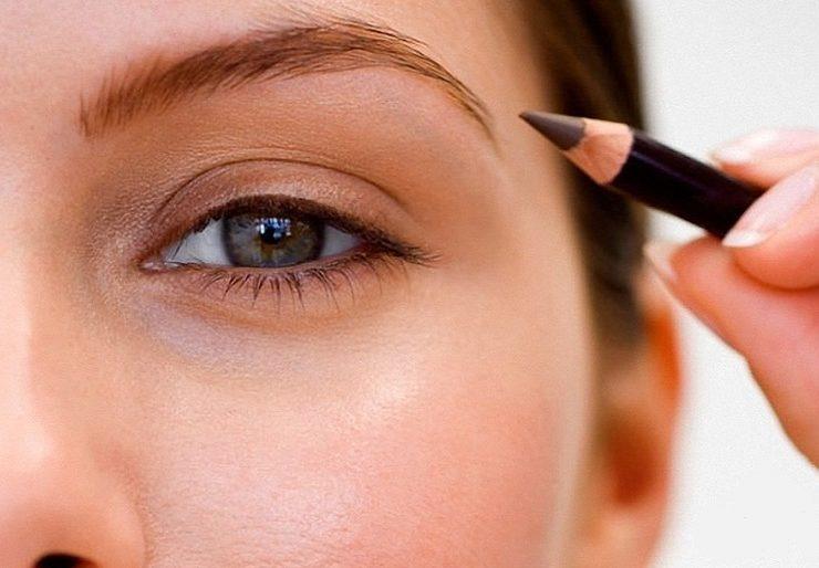 Как правильно красить брови карандашом пошагово?