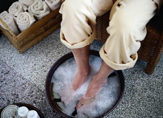 Делайте ножные ванночки