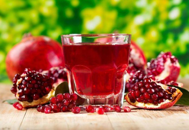Гранатовый сок повышает гемоглобин