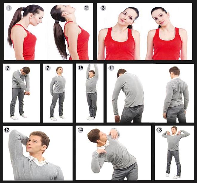 Схема выполнения гимнастических упражнений